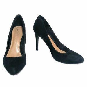 LC Lauren Conrad BLOSSOM Black High Heels Sz 8.5